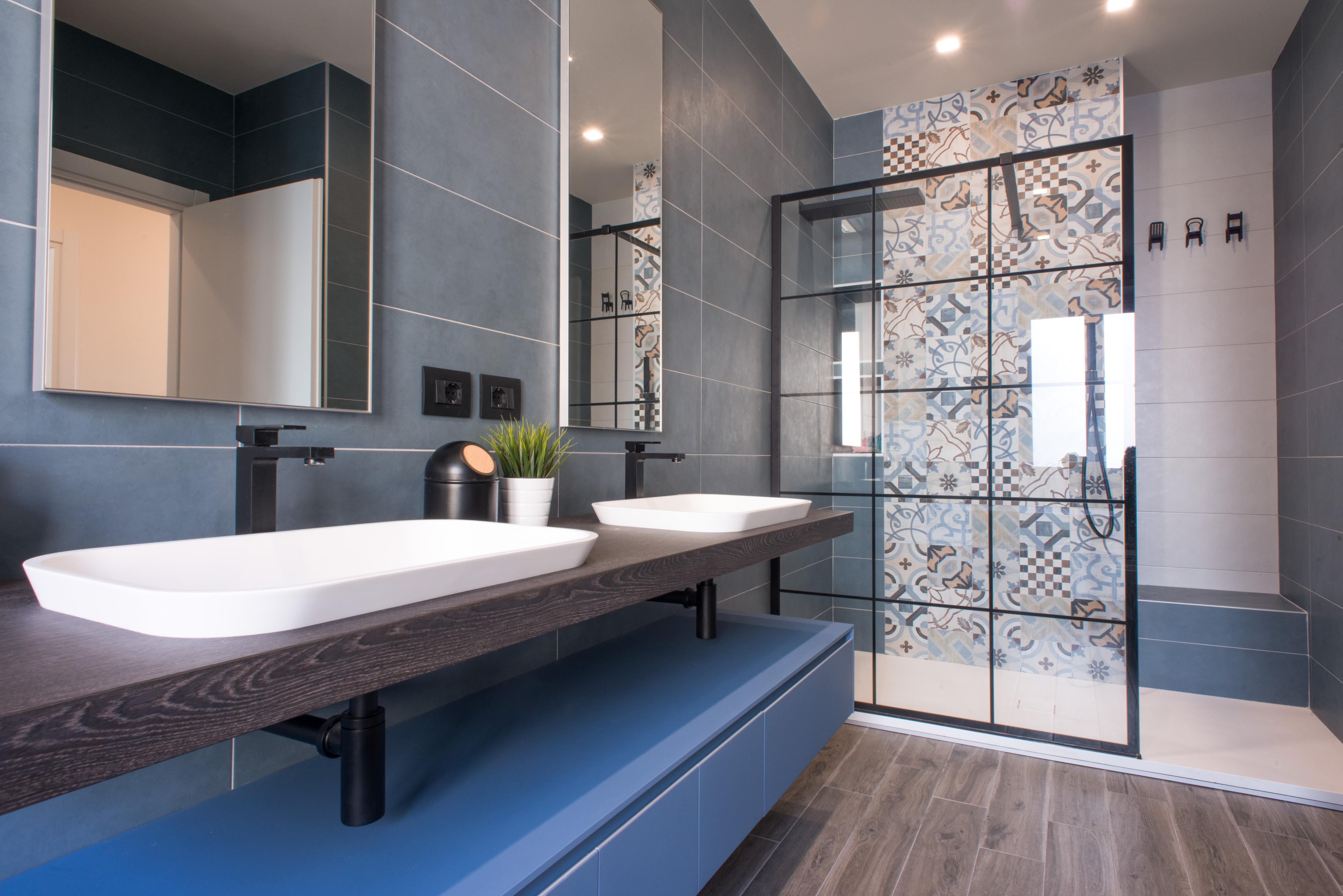 Chelli progetti realizzati bagno blu chelli